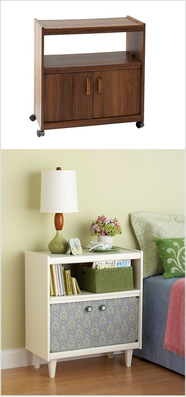 cute & simple bedside table makeover