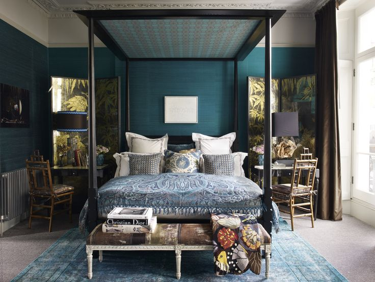 Fashion Editor Kim Hersovu0027s Master Bedroom Blends Bold Colors With Bold  Textures To Prove That Sometimes More Is More. Tour The Rest Of The Home.