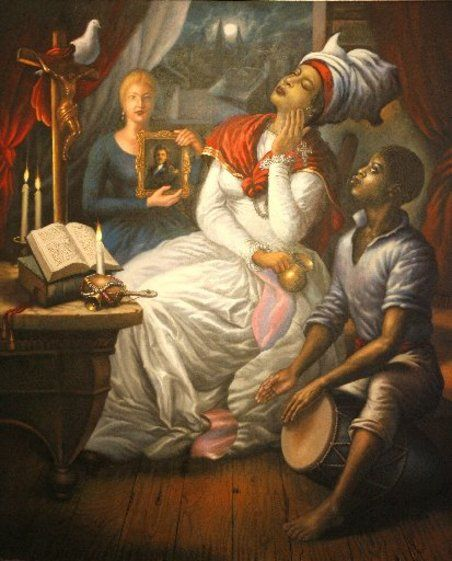'Marie Laveau Evoking the Spirit of Love' by Haitian artist Ulrick Jean-Pierre