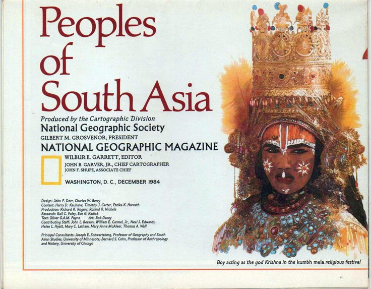 National Geographic Map, Peoples of South Asia, 1984, good shape by VintageNEJunk on Etsy