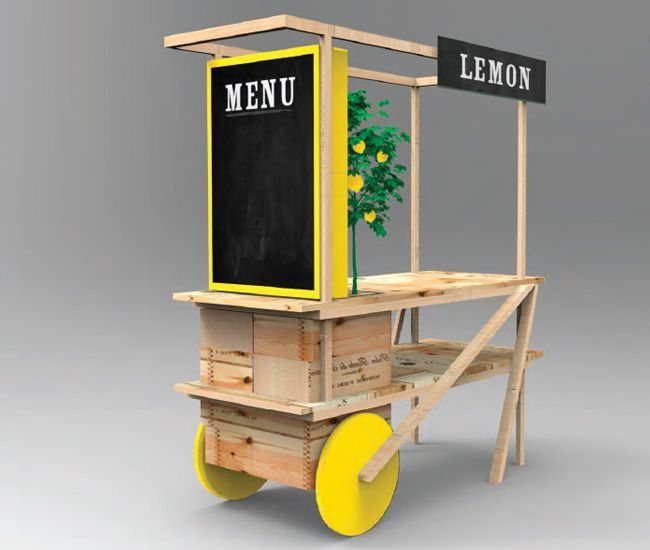 Designlines judges food cart design at The Stop's Night Market