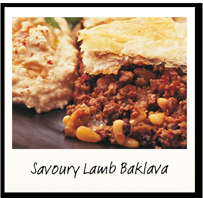 Savoury Lamb Baklava Recipe