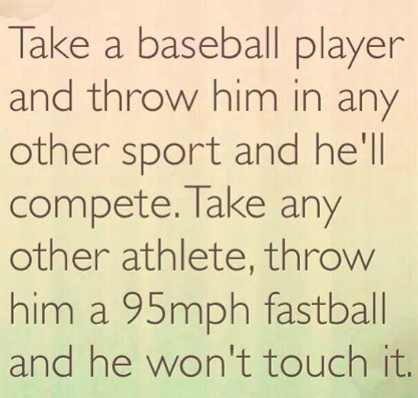 No offense to my Fellow Soccer moms! I know there are plenty of Jake's soccer friends who can compete in Baseball too!