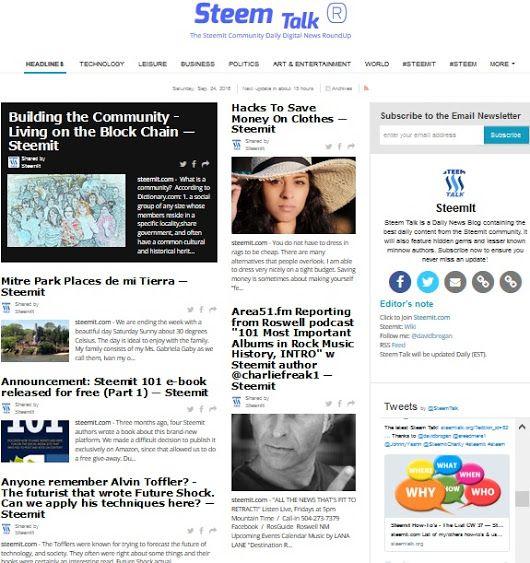Steem Talk - Your Daily Best of Steemit Newspaper - Saturday Edition 18 — Steemit