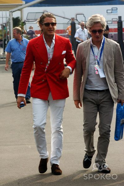 Fiat heir Lapo Elkann - Italian Grand Prix