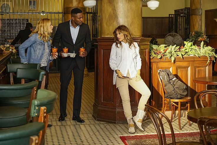 Emily Wickersham as Bishop, Duane Henry as Reeves and Jennifer Esposito as Quinn in NCIS. (Photo: Robert Voets, CBS)