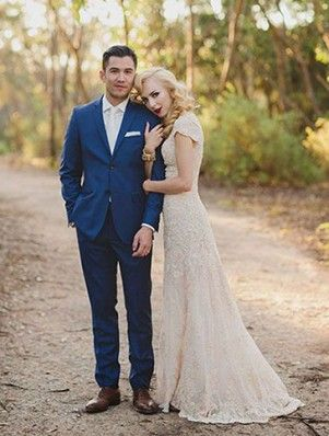 costume marié bleu marine