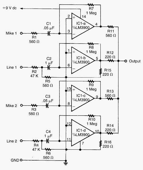 audio circuit diagram pdf