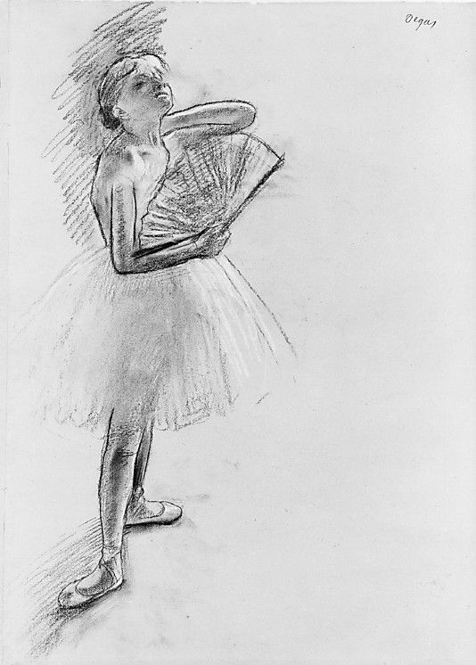 Dancer with a Fan - Edgar Degas