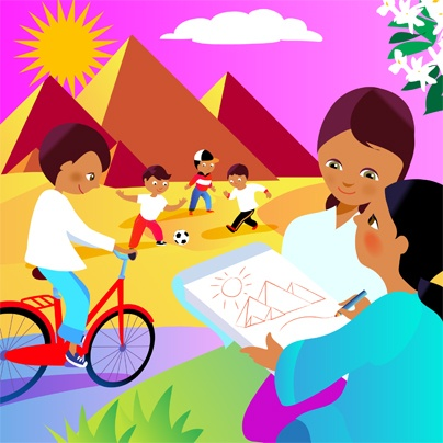 #kids #app #colorful #education #ipad #kid #preschool #book #Egypt