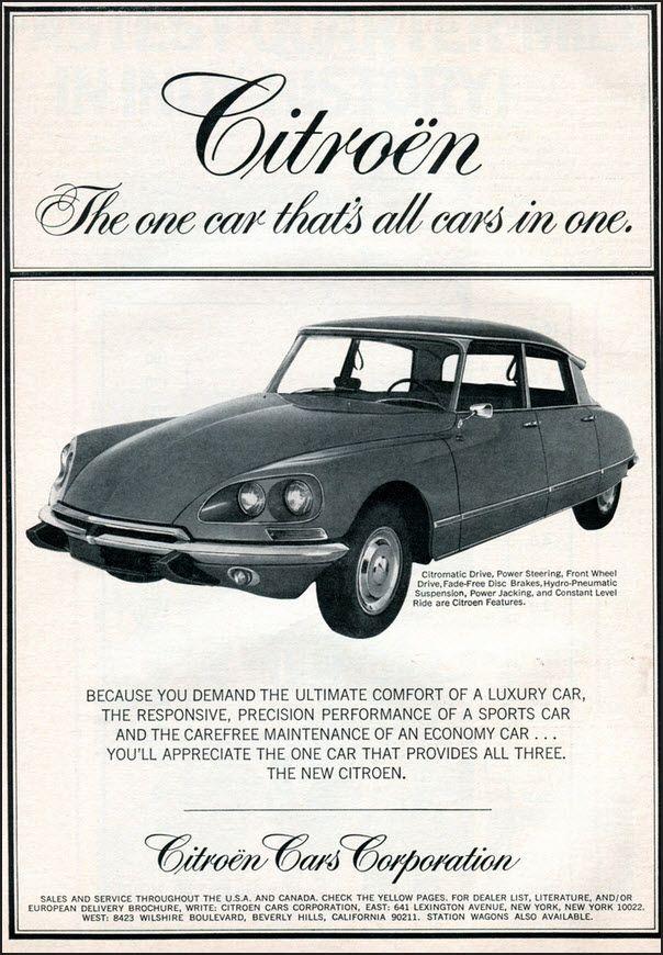 """El modelo de Citroen DS, conocido en España, como """"El Tiburón"""". Posiblemente el coche más revolucionario y adelantado a su época."""