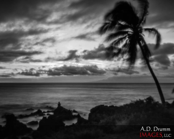 Two more shots from Maui. Both are ISO 100. The first is a 6s exposure, the second is 15s. These were obviously shot on a tripod! Post was Lightroom and then Nik Silver Efex. By Tony Drumm
