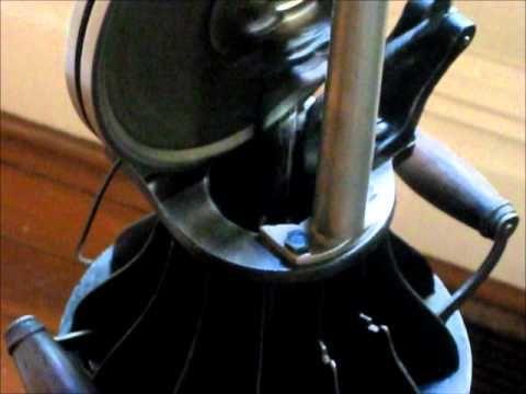 """Jost hot air fan (stirling engine) the 1903 """"Lamp Fan"""" - YouTube"""