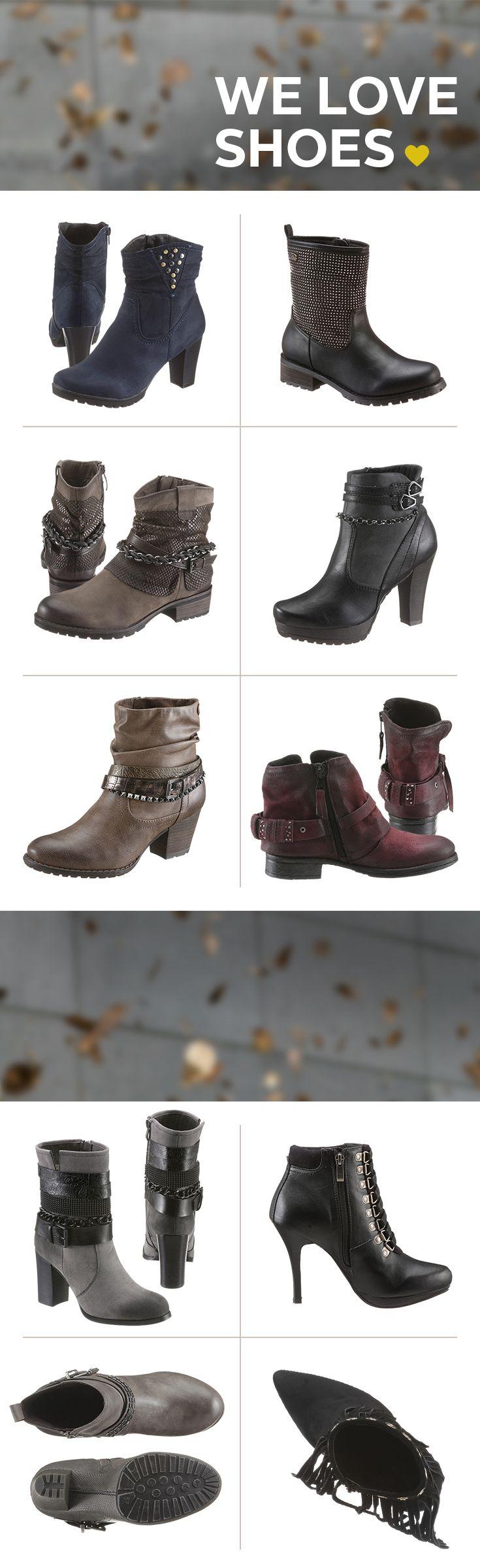 Habt ihr schon eure Schuh-Lieblinge für Herbst  und Winter gefunden? Unser Tipp: Stiefeletten  und Boots in allen erdenklichen Styles – ob filigran  oder grob, spitz oder rund, mit Stiletto- oder  Blockabsatz, dezent oder mit tollen Details.   Entdeckt jetzt unsere abwechslungsreichen Schuh- Highlights und schreitet stilsicher durch den Herbst!