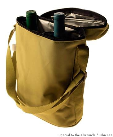 From a luxury picnic basket to an insulated wine cooler, we've got you covered. Throw the thermally insulated tote, which holds two bottles, over your shoulder as you meander from winery to winery. $14.95 at Crate & Barrel, www.crateandbarrel.com. The portable wine and cheese set includes a mini-cheese board, four knives and a corkscrew, packaged in a stylish nylon case. $50 at Cowgirl Creamery, 1 Ferry Building, San Francisco; (415) 362-9354, www.cowgirlcreamery.com. Stuck into the ground…