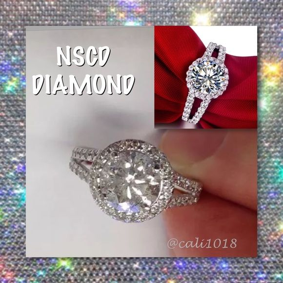 ⚡️⚡️FLASH SALE ONE HOUR ONLY REG $159⚡️⚡️ ⚡️⚡️FLASH SALE ONE HOUR ONLY NO ADDITIONAL DISCOUNTS OR OFFERS CONSIDERED AT THIS TIME EVEN IF BUNDLED⚡️⚡Cut by jewelers of 20 years every stone is guaranteed to bring the sparkle and brilliance as that of a true diamond. 2.00 Carat NSCD Diamond D color VVS1 Clarity Retail price $500 Size: 5 Gem Shape: Round Cut Diamond Metal: Platinum over .925 Sterling Silver NSCD Diamond Jewelry Rings