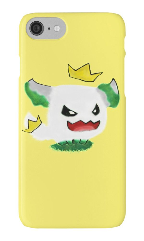 """King Furball by Gillens--Inspired by the league of legends """"Poro"""" character. This little guy is depicted playing in some green algae puddle. Not advised to have a white background against it, I think I was listening to a 3 hour jazz playlist for this one."""