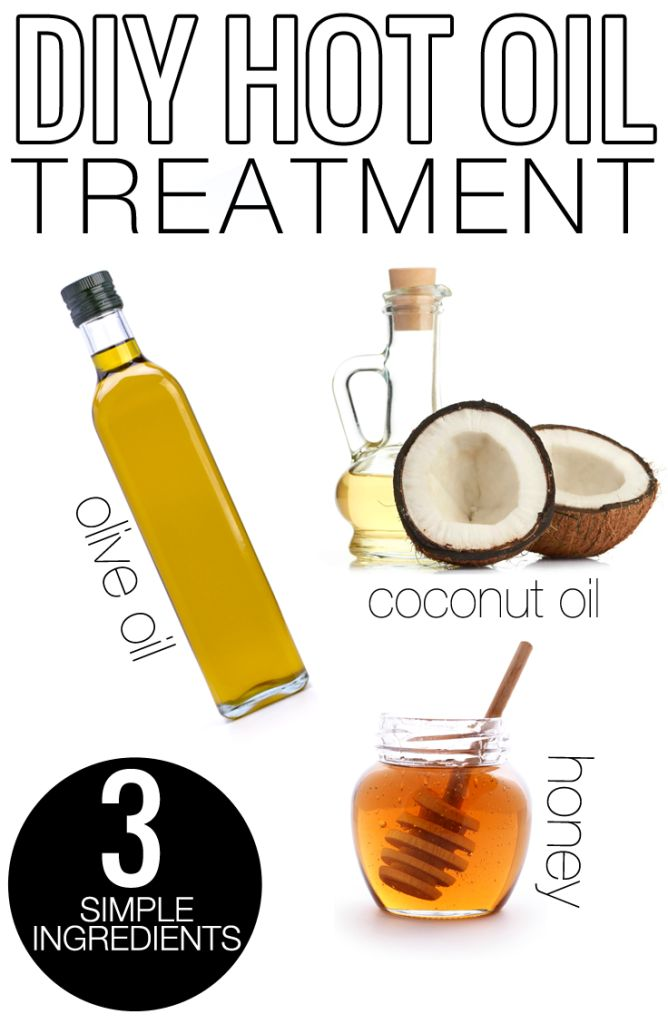 DIY All Natural Hot Oil Hair Treatment. Very easy, and only 3 simple ingredients.
