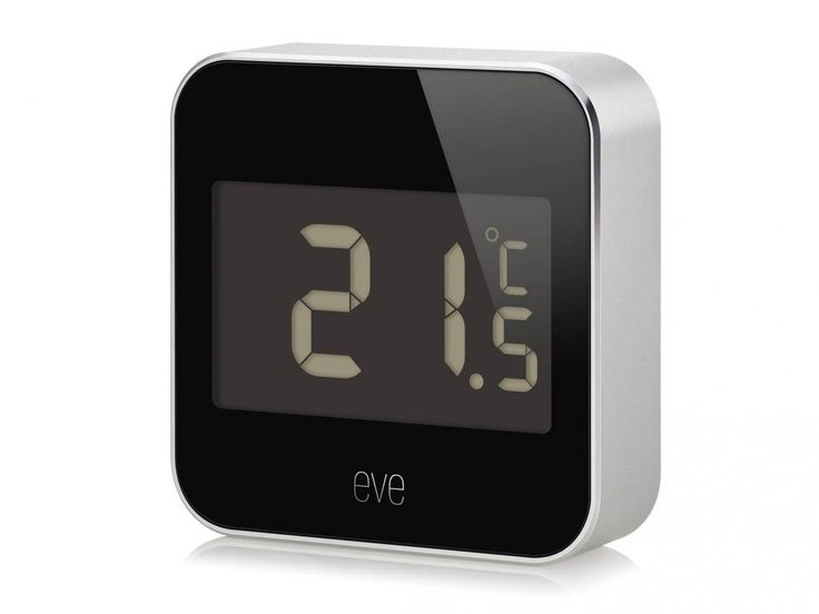 """The Eve Degree has water-resistance so it can be placed outdoors or in. It measures humidity, temperature and atmospheric pressure. You can check the temperature and so on remotely by using the excellent Eve app or the Home app on Apple devices. Or just say, """"Hey Siri, what's the temperature in the living room?"""" and your iPhone or Apple Watch can tell you. Works with HomeKit."""