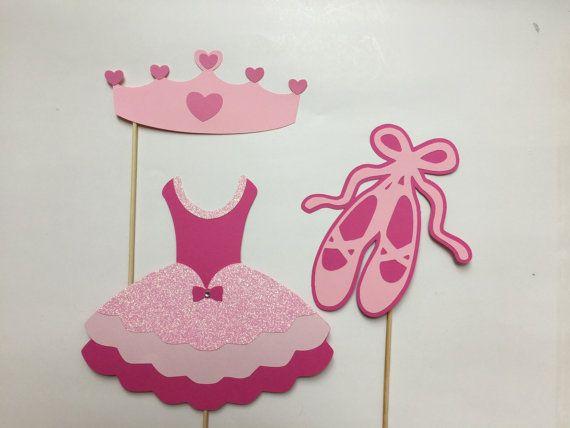 Ballerina Princess Photo Booth Props Baby Girl Photobooth Props Set of 3