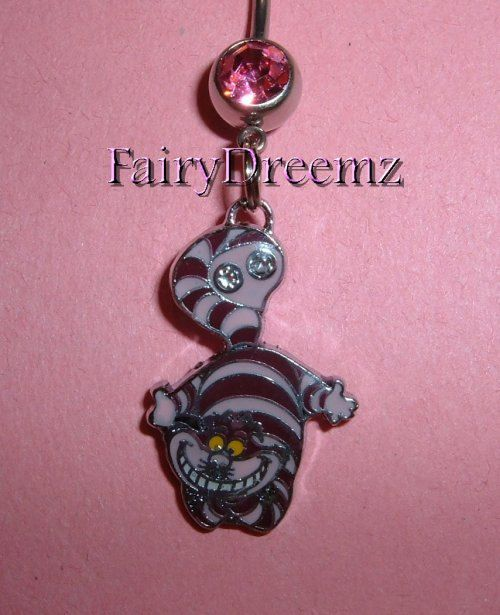 Cheshire Cat From Alice in Wonderland Disney Belly by FairyDreemz, $12.00