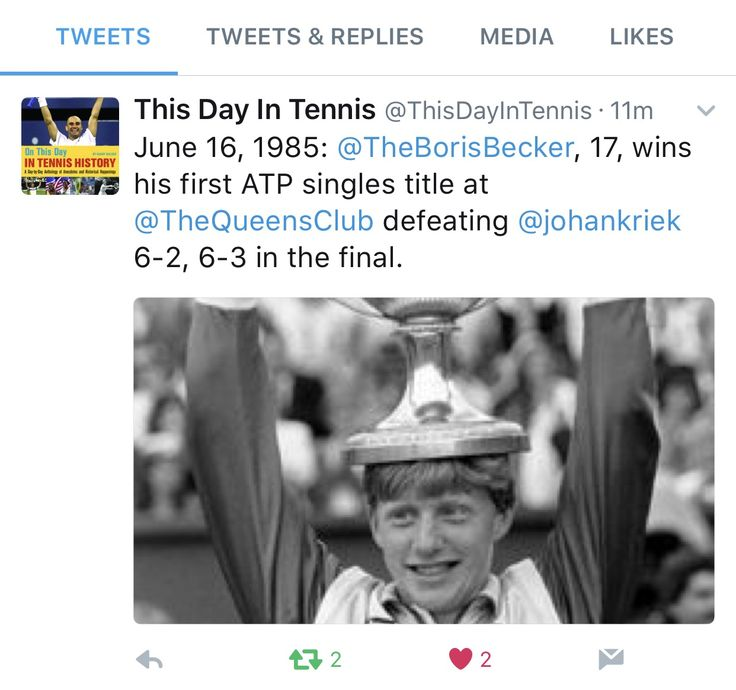 #fbf Little tennis history from 1985. The first ATP title that @borisbeckerofficial ever won, he beat @johankriek in the finals of the ATP Queens event. After the match Johan Kriek made the now famous prediction that Boris will win Wimbledon that year and he did. Well done Boris! #BorisBecker #JohanKriek #tennislegends #tennishistory #Queens #Wimbledon #tennis