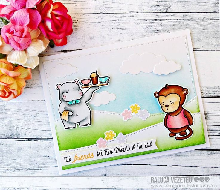 "195 Likes, 17 Comments - Raluca Vezeteu (@ralucavezeteu) on Instagram: ""Today I'm up on the @createasmilestamps blog with this card using the adorable #servedup and…"""