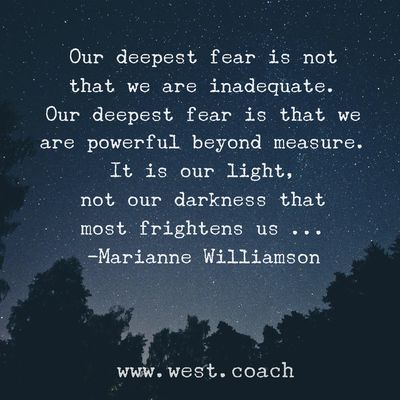 my deepest fear: inadequacy