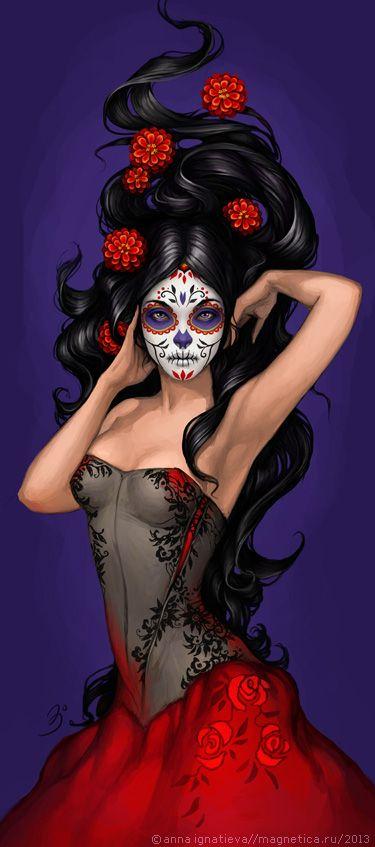 Mujer de los muertes