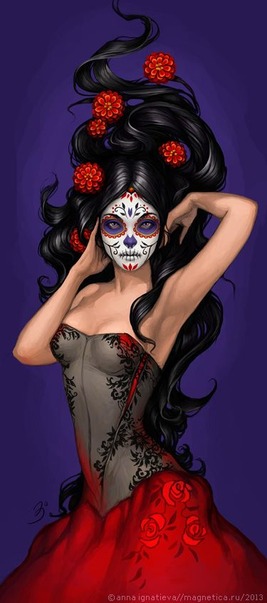 Day of the Dead. Mexican Sugar Skull