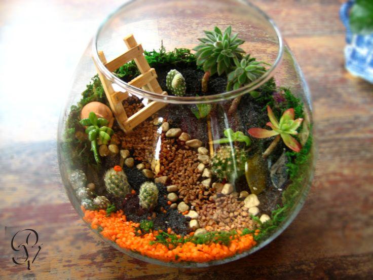 Pi di 25 fantastiche idee su giardini in miniatura su pinterest case delle fate casette da - Giardino in miniatura ...