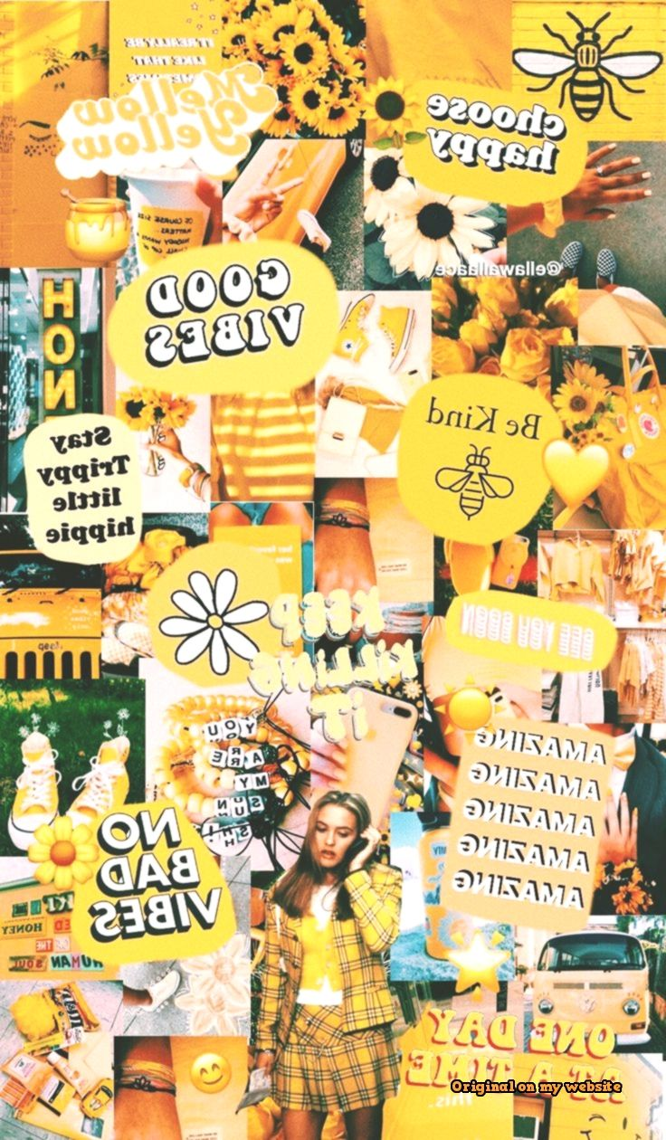 Lock Screen Wallpapers Yellow Collage Lock Screen Wallpaper
