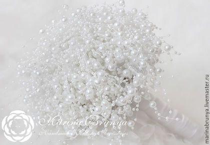 Свадебные цветы ручной работы. Ярмарка Мастеров - ручная работа. Купить Жемчужный БУКЕТ НЕВЕСТЫ. Handmade.…