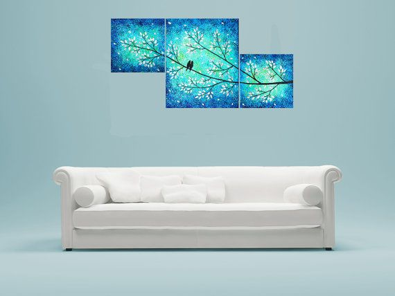 Art painting Handmade canvas art wall decor wall by QiQiGallery