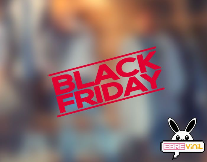 Vinilo adhesivo escaparates y paredes tiendas Black Friday