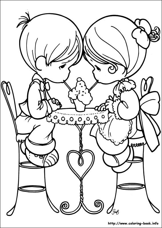 cute couple precious moments coloring pages