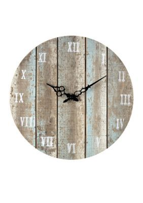 Sterling Light Blue Sterling Roman Numeral Outdoor Wall Clock