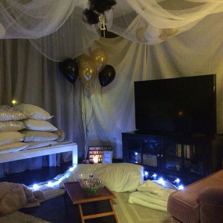Adult Slumber Party Living Room Fort