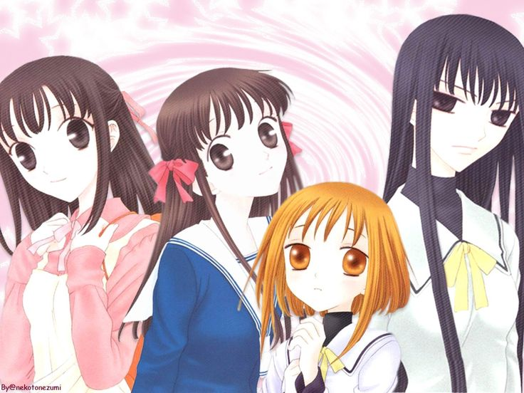 Kagura Tohru Kisa And RIn Fruits Basket MangaGirl