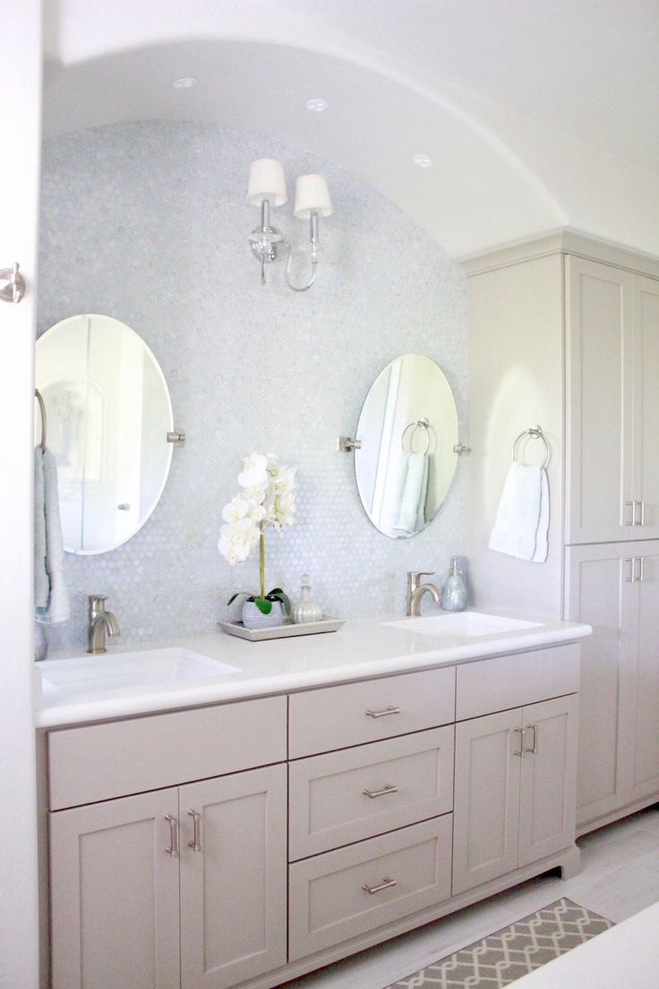 Bright White Beach House In Aptos California Bathroom Farmhouse
