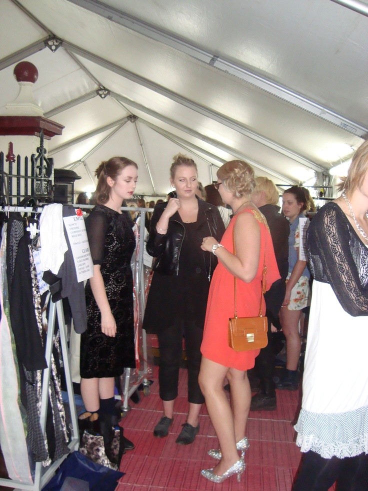 Getting ready backstage at iD Dunedin Fashion Week - Tansy Morris    http://www.facebook.com/pages/Designed-by-Tansy/417499288315408
