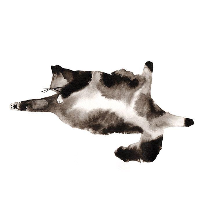 http://www.gooood.hk/cat-sketches-by-laura-mckellar.htm