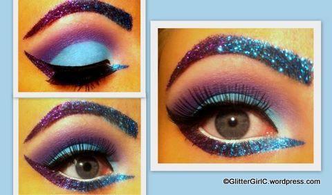 GLITTER ! Sick eye make-up