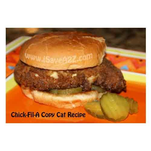 ChickFilA Copy Cat Recipe!  I love Chickfila but I love to make it at home too!