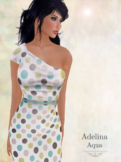 Pacifica Fashion - Adelina Aqua Mesh Dress in the Market of Kitely, a virtual world where you can explore worlds, create ones, customize your avatar, meet interesting people, have fun, learn new things, conduct meetings, shop and earn money.