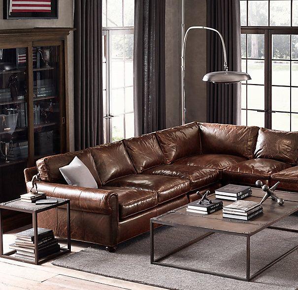 Leather Sectional Sofa Restoration Hardware: 25+ Best Ideas About Leather Sectional Sofas On Pinterest