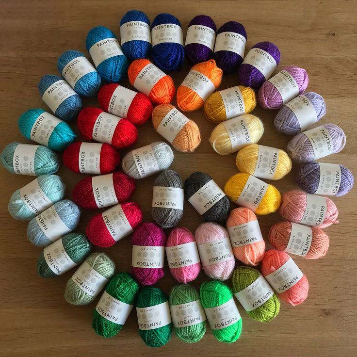 Oh yea..Pokémon flavoured knitting wool i.e. Gotta catch em all! . #yarn #yarnporn #yarnstash #yarnaddict #wool #woolstash #rainbowknit #knittingwool #knittinglove #knitstagram  #paintboxyarns #paintboxyarnssimplydk #miniyarn #pickyourpalette