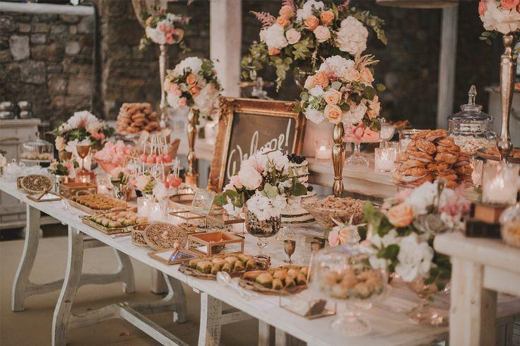 Vintage Beach Wedding Dessert Table Planned by DeplanV