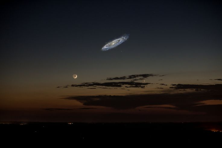 Andromeda Galaxy Milky Way | Composite photo by Tom Buckley-Houston; see below for original picture ...
