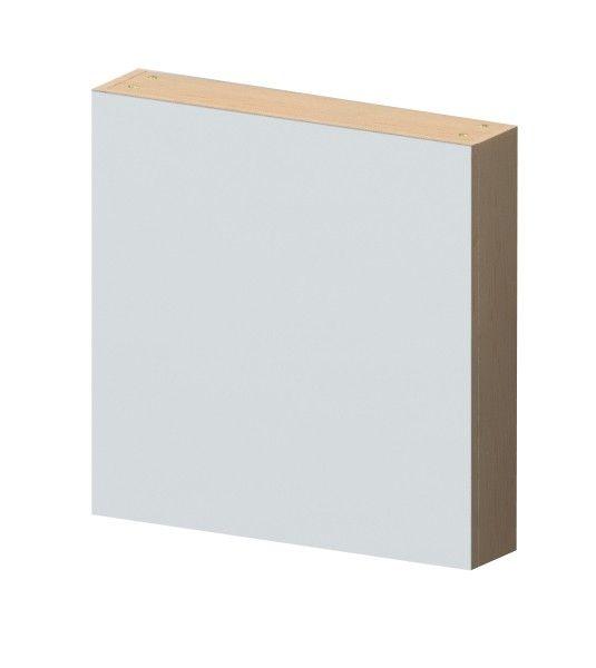 De spiegelkast van Miller heeft een wit eiken lijst en leverbaar in de breedte 70 cm..